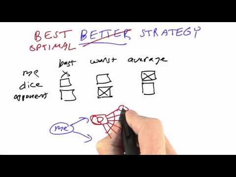 Optimizing Strategy Solution - CS212 Unit 5 - Udacity