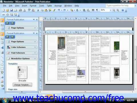 Publisher 2003 Tutorial Using Screen Tips Microsoft Training Lesson 14.1