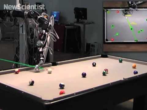 Pool-playing robot