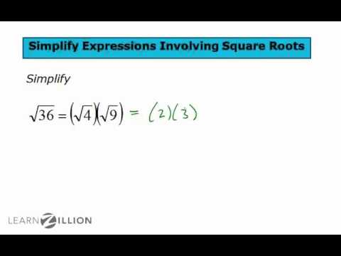 Simplify expressions involving square roots - 8.EE.2