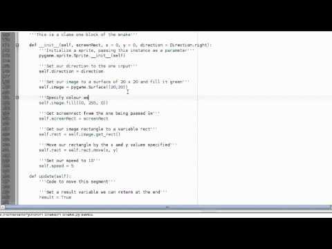 Raspberry Pi Tutorial 11 - Snake Segments