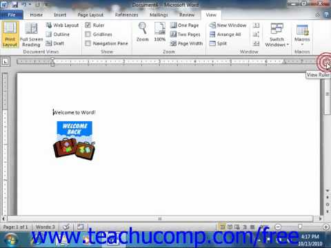 Word 2010 Tutorial The Ruler Microsoft Office Training Lesson 1.9