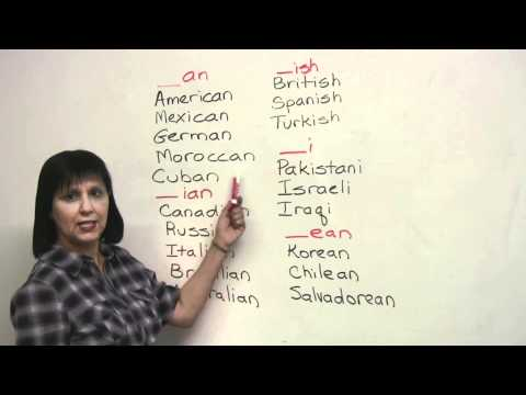 Speaking English - Nationalities - AMERICAN, RUSSIAN, IRAQI, SPANISH...