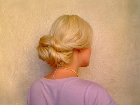 Wedding hairstyles for long hair tutorial Quick easy elegant updo Glam holiday look 2012