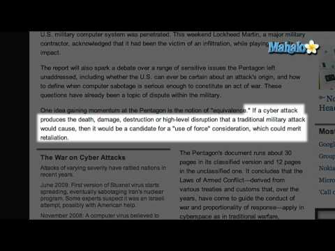 "Pentagon to Declare Cyberattacks ""Acts of War"""