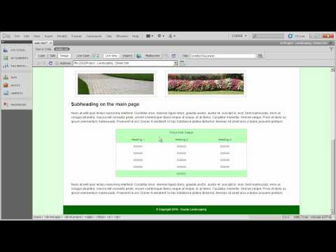 Setting up layout and formatting CSS (5) - Coyote Landscaping - Part 14