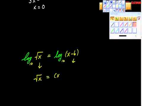 Solving Equations Containing Logs or Rational Exponents
