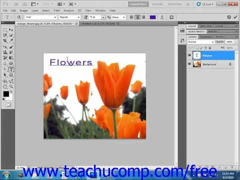 Photoshop CS5 Tutorial Text Basics Adobe Training Lesson 11.1