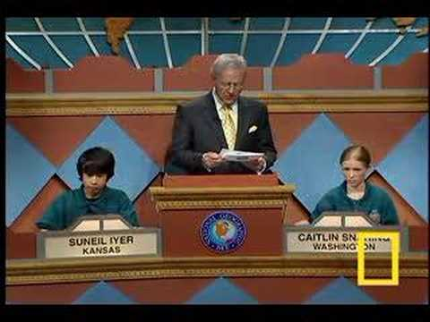 National Geographic Bee 2007 Final Question