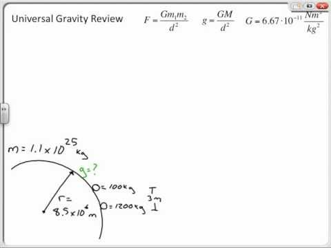 Universal Gravity Sample Problems, Chapter 7 Review
