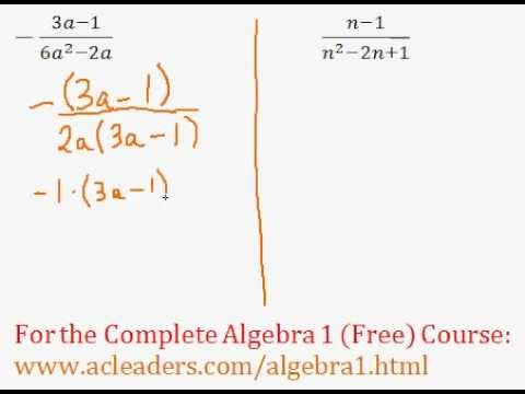 Rational Expressions - Simplifying Question #7