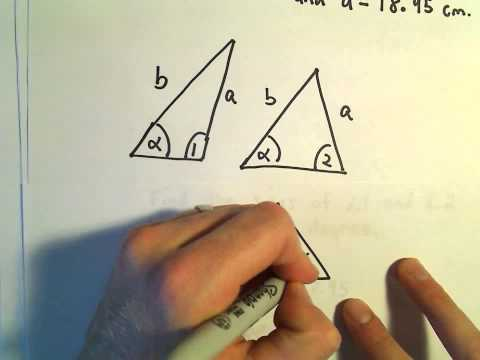 Solving a Triangle, SAS, Example 2