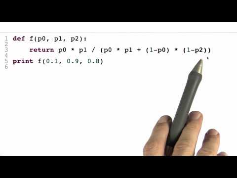 Program Bayes Rule Solution - Intro to Statistics - Programming Bayes Rule - Udacity
