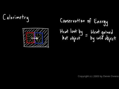 Physics 9.09a - Calorimetry