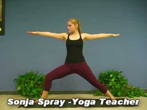 Yoga Poses w/ Sonja 3, Warrior 2 Asana  Virabhadrasana Yoga for Beginners