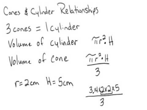 Relationships between Cones and Cylinders Part 2