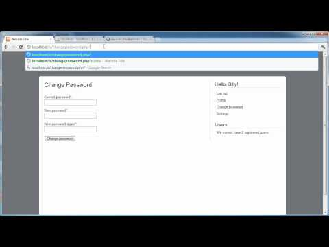 PHP Tutorials: Register & Login (Part 19): Forgotten Password (Part 3)