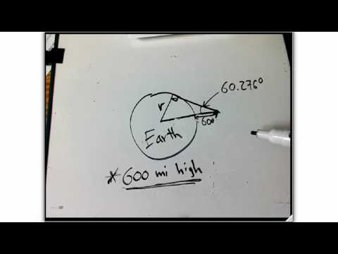 radius of earth: book trig problem