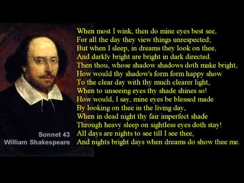 Sonnet 43 ~ William Shakespeare ~ with text