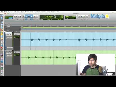 Selecting the Track View - Pro Tools 9