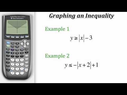TI Calculator Tutorial: Graphing Inequalities