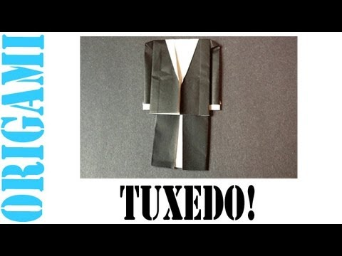 Origami Daily - 307: Tuxedo   TCGames HD