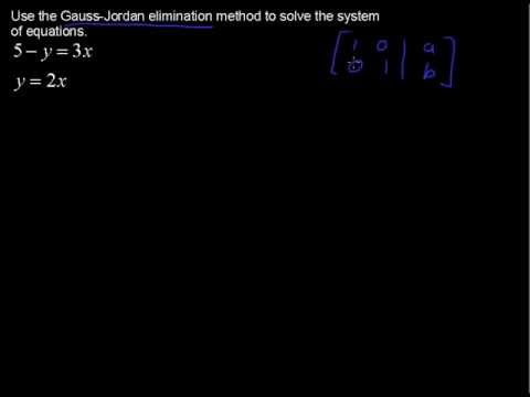 Using the Gauss Jordan Elimination Method - College Algebra Tips