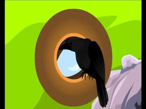 Thirsty crow animated cartoon story