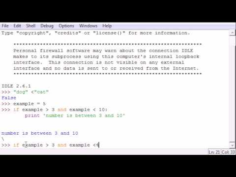 Python Programming Tutorial - 24 - And and Or
