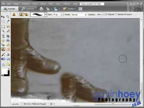 Restore old photographs with Photoshop Elements