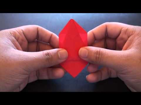 Origami Daily - 182 - Decorative Rose (Valentine's Day) - TCGames [HD]