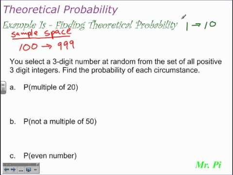 Theoretical Probability | Finding Theoretical Probability