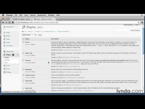 WordPress tutorial: Keeping a web site current | lynda.com