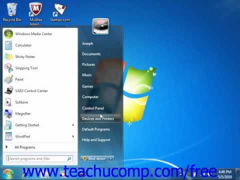 Windows 7 Tutorial Adding Devices/Printers Microsoft Training Lesson 2.11