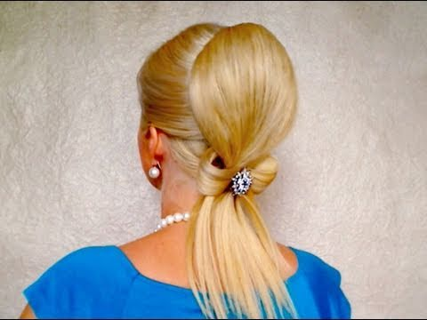 Romantic wedding updo Elegant hair bow tutorial for long hair Cute prom hairstyles