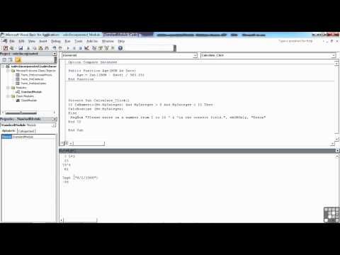 VBA for Access | The Editor Debug Window | InfiniteSkills