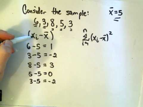 Statistics - Calculating Variance