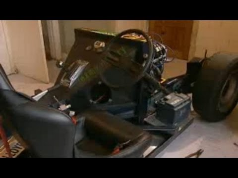 Top Gear - meets man building speed racing car in kitchen - BBC