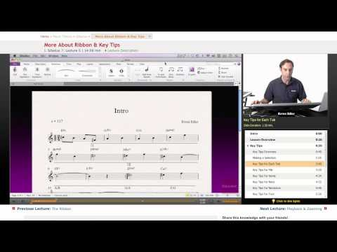 Sibelius: More About Ribbon & Key Tips
