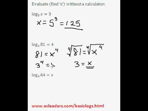 Solving simple log equations - EASY!!!! (Pt. 3 of basic logs)