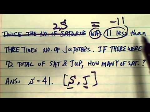 Word Problem: twice the number of...
