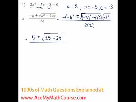 Quadratic Formula #4