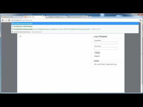 PHP Tutorials: Register & Login (Part 14): Email Activation (Part 4)