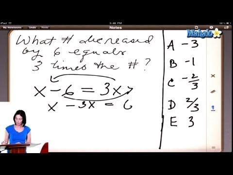 SAT Math Prep Course Question #11