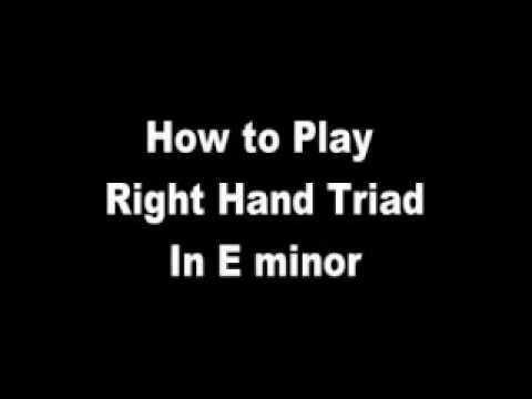 Piano Lesson - E Minor Triad (right hand)