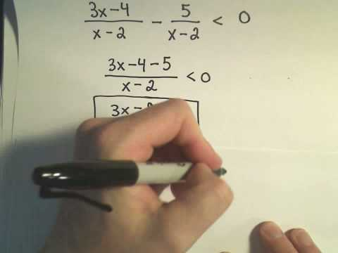 Solving a Rational Inequality - Example 2