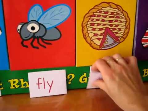 Preschool - Language. rhyme board