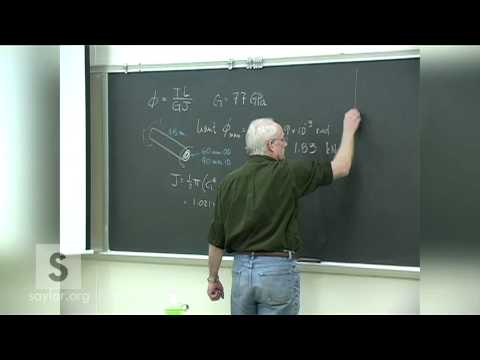 Saylor ME102: Mechanics of Materials- Shear Stress & Strain