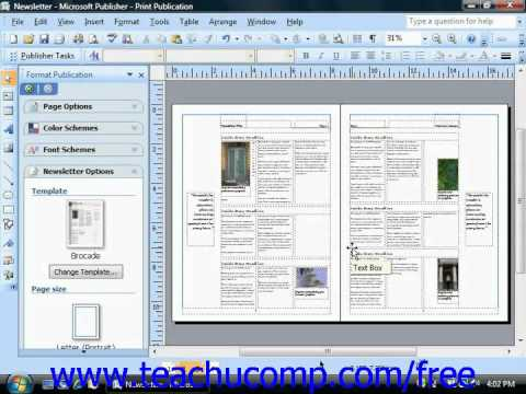 Publisher 2003 Tutorial Tools on the Web Microsoft Training Lesson 13.8