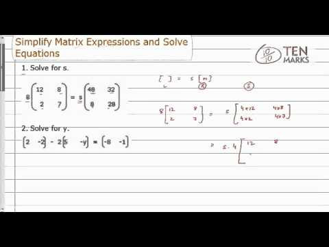 Simplify Matrix Expression and Solve Problems
